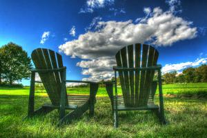 Two Chairs Back 20 by Robert Goldwitz