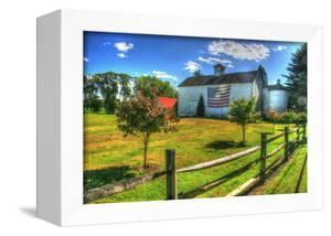 White Barn and Flag by Robert Goldwitz