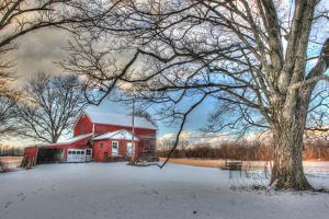 Winter Barn by Robert Goldwitz
