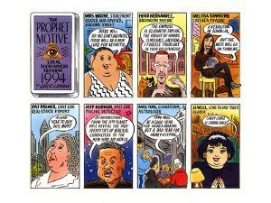 Talk of the Town comic strip showing local psychics Mrs. Wayne, Herb Herna? - New Yorker Cartoon by Robert Grossman