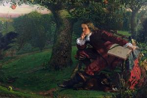 Master Isaac Newton, 1905 (oil on canvas) by Robert Hannah