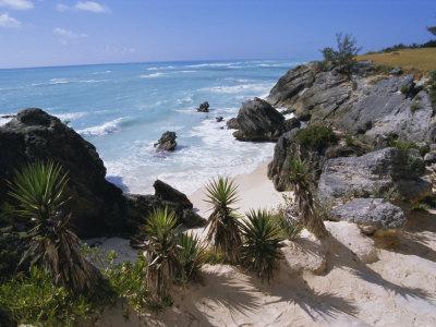 Beach on South Coast, Bermuda, Central America