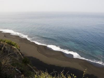 Black Volcanic Sand Beach at Sao Filipe, Fogo (Fire), Cape Verde Islands, Atlantic Ocean, Africa by Robert Harding