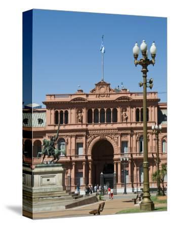 Casa Rosada Where Juan Peron Appeared on This Central Balcony, Plaza De Mayo