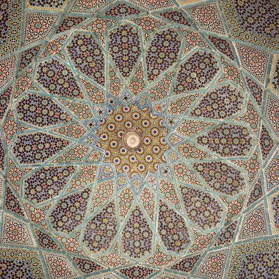 Detail of Interior of the Tomb of the Persian Poet Hafiz, Shiraz, Iran, Middle East