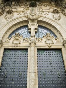 Doors on the Front of Santiago Cathedral, Galicia, Spain by Robert Harding