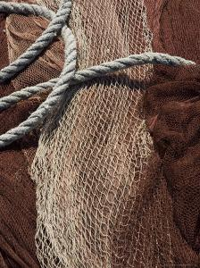 Fishing Nets, Saint Jean De Luz (St.-Jean-De-Luz), Basque Country, Aquitaine, France by Robert Harding