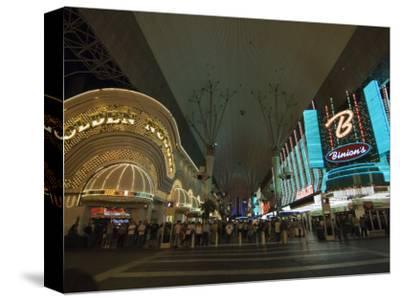 Fremont Street, the Older Part of Las Vegas, at Night, Las Vegas, Nevada, USA