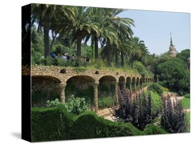 Gaudi Achitecture and Gardens, Gaudi Guell Park, Barcelona, Catalonia, Spain