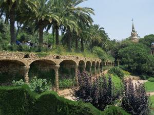 Gaudi Achitecture and Gardens, Gaudi Guell Park, Barcelona, Catalonia, Spain by Robert Harding