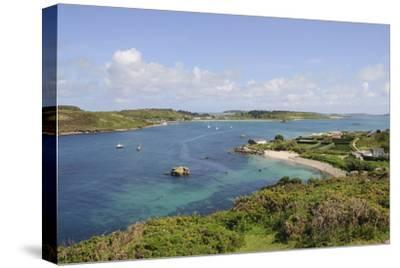 Looking over Towards Tresco from Bryher, Isles of Scilly, Cornwall, United Kingdom, Europe