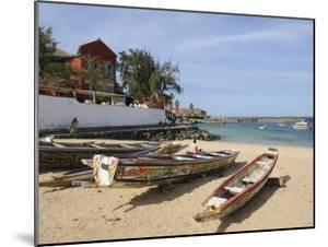 Pirogues (Fishing Boats) on Beach, Goree Island, Near Dakar, Senegal, West Africa, Africa by Robert Harding