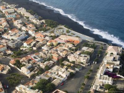 Sao Filipe from the Air, Fogo (Fire), Cape Verde Islands, Atlantic Ocean, Africa by Robert Harding