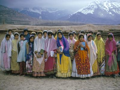Schoolgirls, Boyerahmad Tribe, Iran, Middle East by Robert Harding