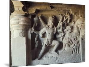 Shiva, Destroyer of the Elephants, Kailasa, Ellora, Maharashtra State, India by Robert Harding