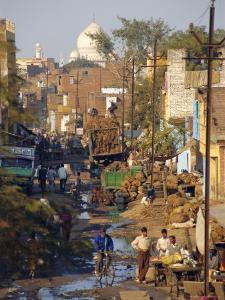 Slums Within a Kilometer of the Taj Mahal, Agra, Uttar Pradesh, India by Robert Harding