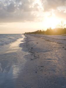 Sunset on Beach, Sanibel Island, Gulf Coast, Florida, United States of America, North America by Robert Harding
