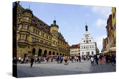 The Market Square in Rothenburg Ob Der Tauber, UNESCO Romantic Road, Franconia