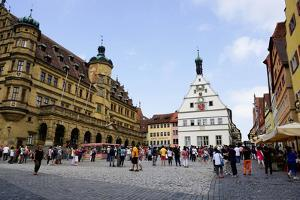 The Market Square in Rothenburg Ob Der Tauber, UNESCO Romantic Road, Franconia by Robert Harding