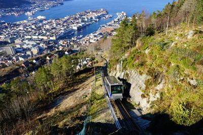 View of Bergen from Mount Floyen, Bergen, Hordaland, Norway, Scandinavia, Europe by Robert Harding