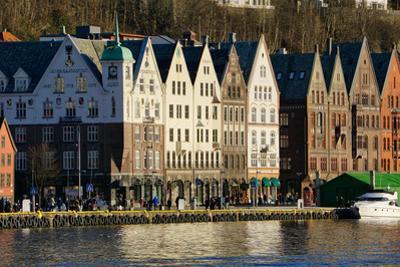 View on the Harbour in Bryygen Area, Bergen, Hordaland, Norway, Scandinavia, Europe by Robert Harding