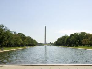 Washington Mounument from the Lincoln Memorial, Washington D.C., USA by Robert Harding