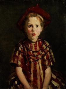 Little Girl in Red Stripes, 1910 by Robert Henri