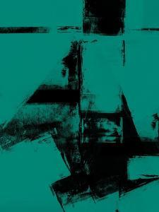 Abstract Black and Teal Study by Robert Hilton