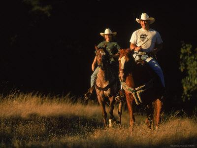 Couple Horseback Riding, Jack London State Park, CA