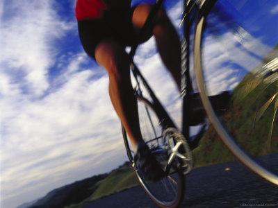 Person Riding Bicycle, Mt. Tamalpais, CA