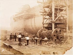 The Great Eastern under Construction, 19th Century by Robert Howlett