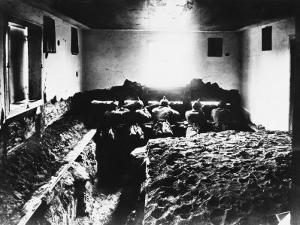 German Soldiers in an Indoor Trench During World War I on the Western Front in France by Robert Hunt