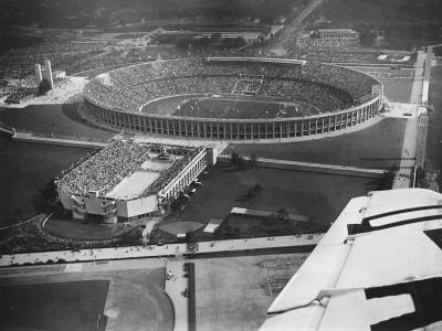 The 1936 Berlin Olympic Stadium, Aerial View, in Berlin, Germany in 1936