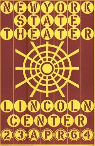New York State Theater, Lincoln Center by Robert Indiana