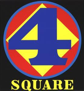 Polygon: Square (Four) by Robert Indiana