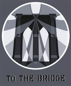 To the Bridge (Brooklyn Bridge) by Robert Indiana