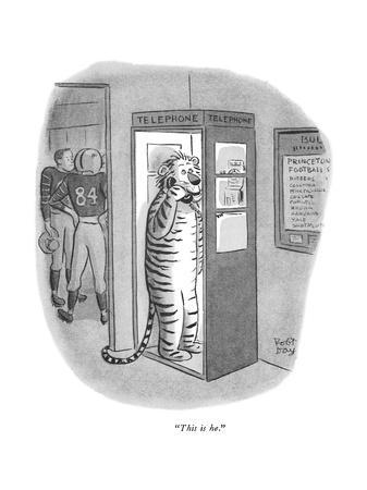 """This is he."" - New Yorker Cartoon"