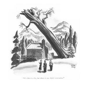 """We like it a lot, but there is one slight reservation."" - New Yorker Cartoon by Robert J. Day"