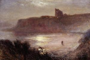 Moonlight - Tynemouth Priory, C.1922 by Robert Jobling