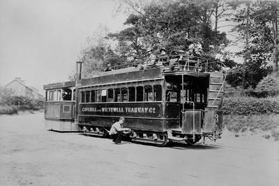 A Steam Tram of the Cavehill and Whitewell Tramway, Belfast, C.1890