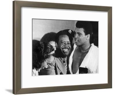 Muhammad Ali Appears with Civil Rights Activists, Ralph Abernathy and Coretta Scott King