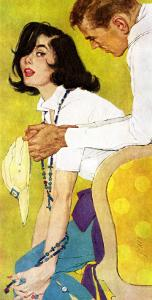 "Love is a Waiting Game - Saturday Evening Post ""Leading Ladies"", February 6, 1960 pg.38 by Robert Jones"