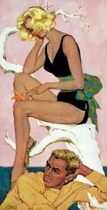 "Marry the Boss' Daughter - Saturday Evening Post ""Leading Ladies"", April 18, 1959 pg.37 by Robert Jones"