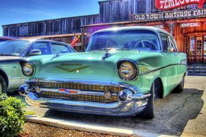 Vintage Blue Car by Robert Kaler