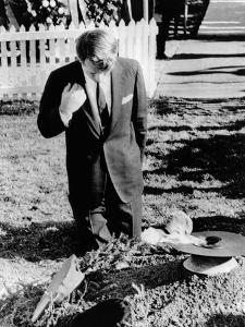 Robert Kennedy Prays at His Brother's Grave