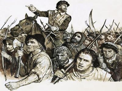Robert Kett Leading a Peasants' Revolt-C.l. Doughty-Giclee Print