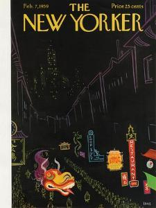 The New Yorker Cover - February 7, 1959 by Robert Kraus