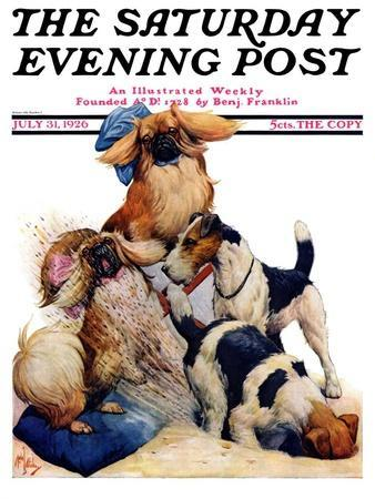 """""""Digging Doggy,"""" Saturday Evening Post Cover, July 31, 1926"""