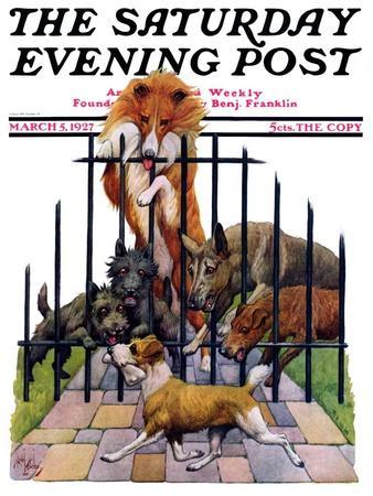 """""""Dog and His Bone,"""" Saturday Evening Post Cover, March 5, 1927"""