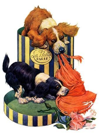 """""""Dogs Eating Hat,""""July 14, 1928"""